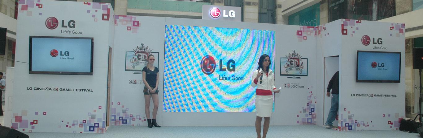 LG 3 D Gaming Festivals