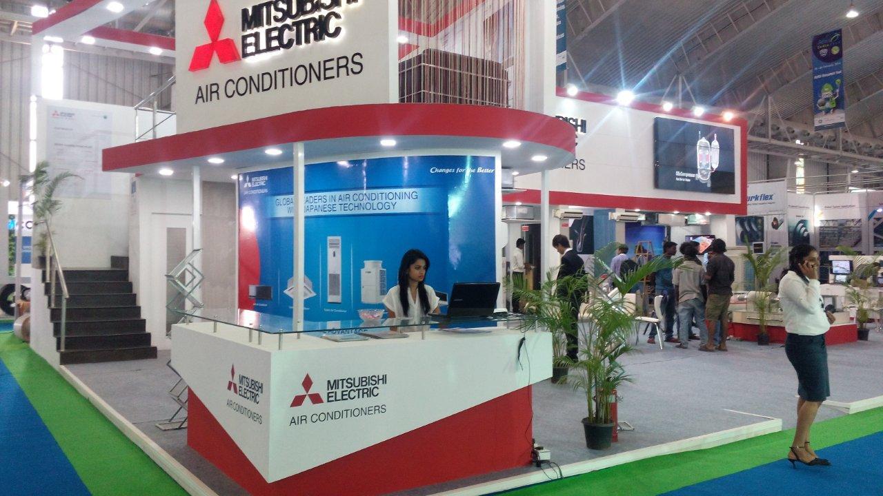 Exhibition Stall Types : Mitsubishi electric stall at acrex bangalore t i c